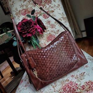 Vintage Cole Haan Leather Weave Bag